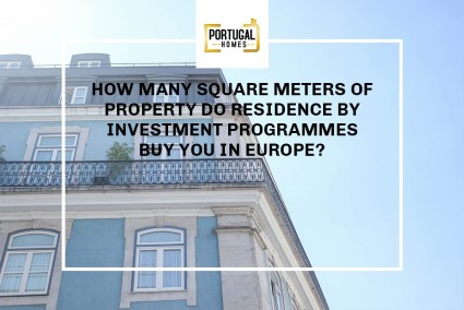 How many square meters of property do Residence Programmes buy you in Europe?