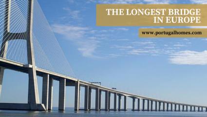 Vasco da Gama Bridge over the Tagus River is the longest in Europe