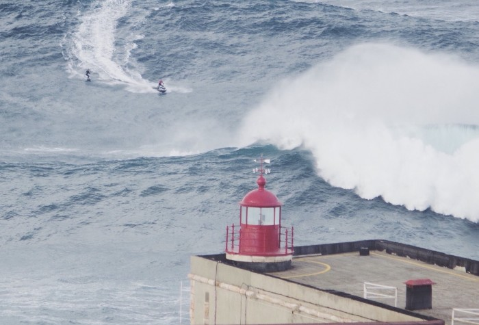 See the breaking waves of Nazaré Portugal Home - Portugal propety experts
