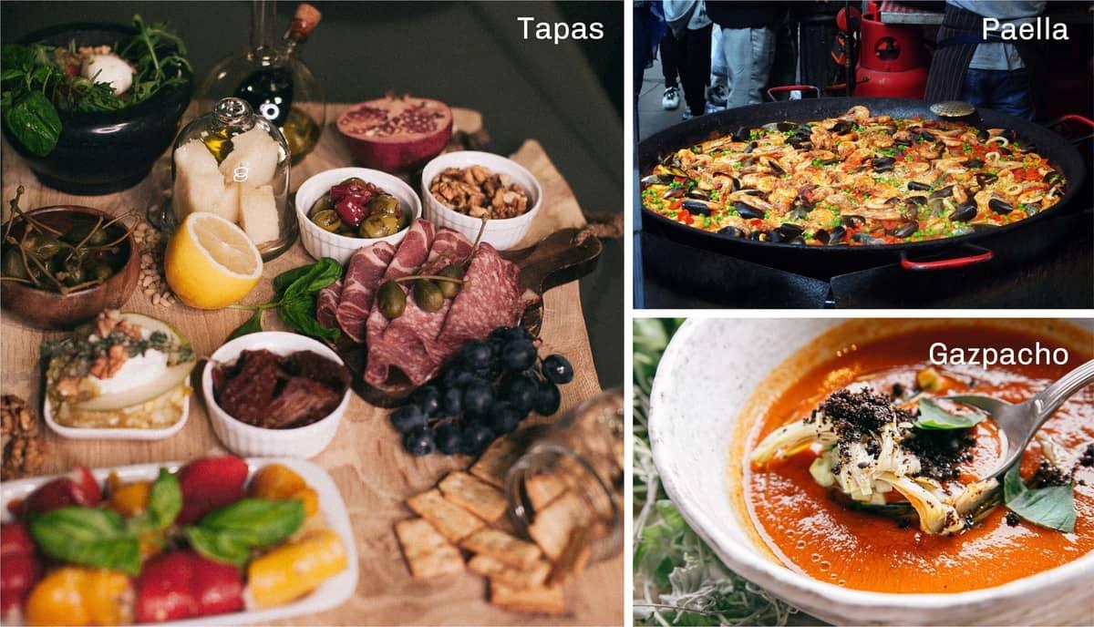 Spain Tapas, Paella and Gazpacho